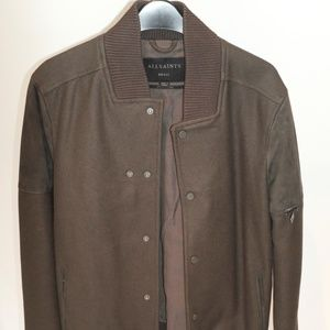 All Saints Brown/Green Jacket Size Small